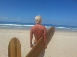 Organic permaculture natural surfboard