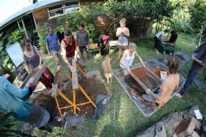 Natural earth building permaculture study